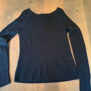 🎃American Eagle Black Knit Sweater Back Zipper